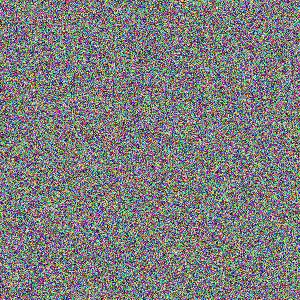 canvas con pixels de colores aleatorios